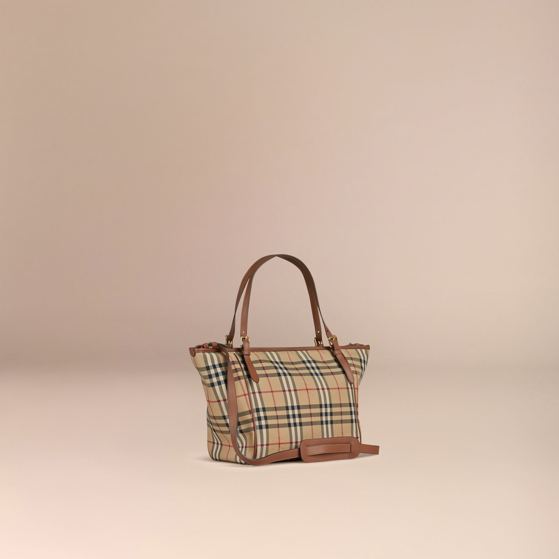 Horseferry Check Baby Changing Tote Bag in Tan | Burberry Canada - gallery image 3