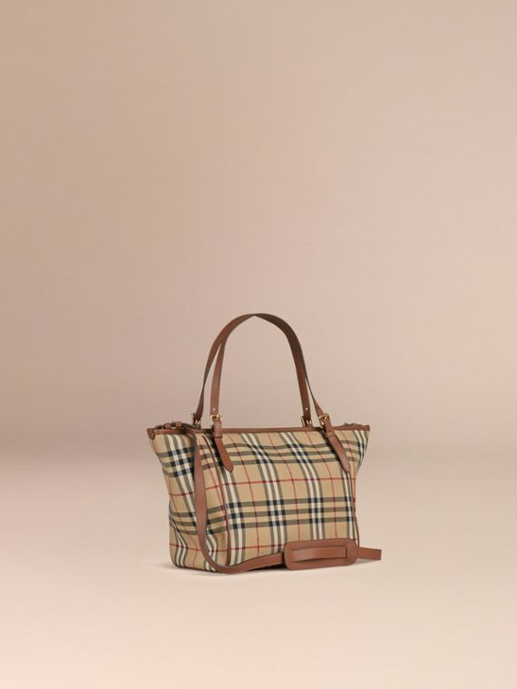 Horseferry Check Baby Changing Tote Bag in Tan | Burberry Canada - cell image 2