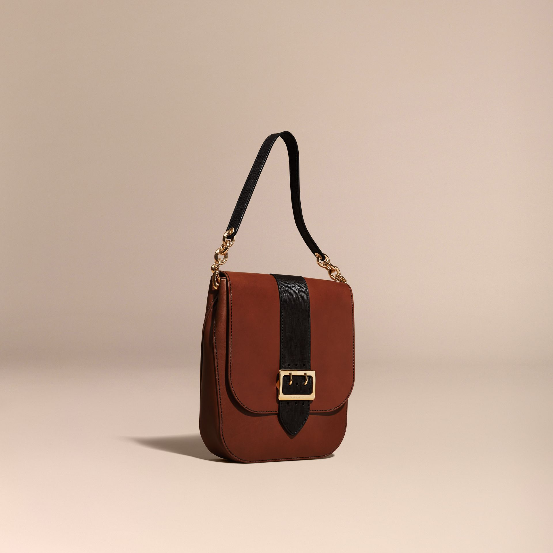 Tan The Buckle Satchel in Smooth Leather - gallery image 1