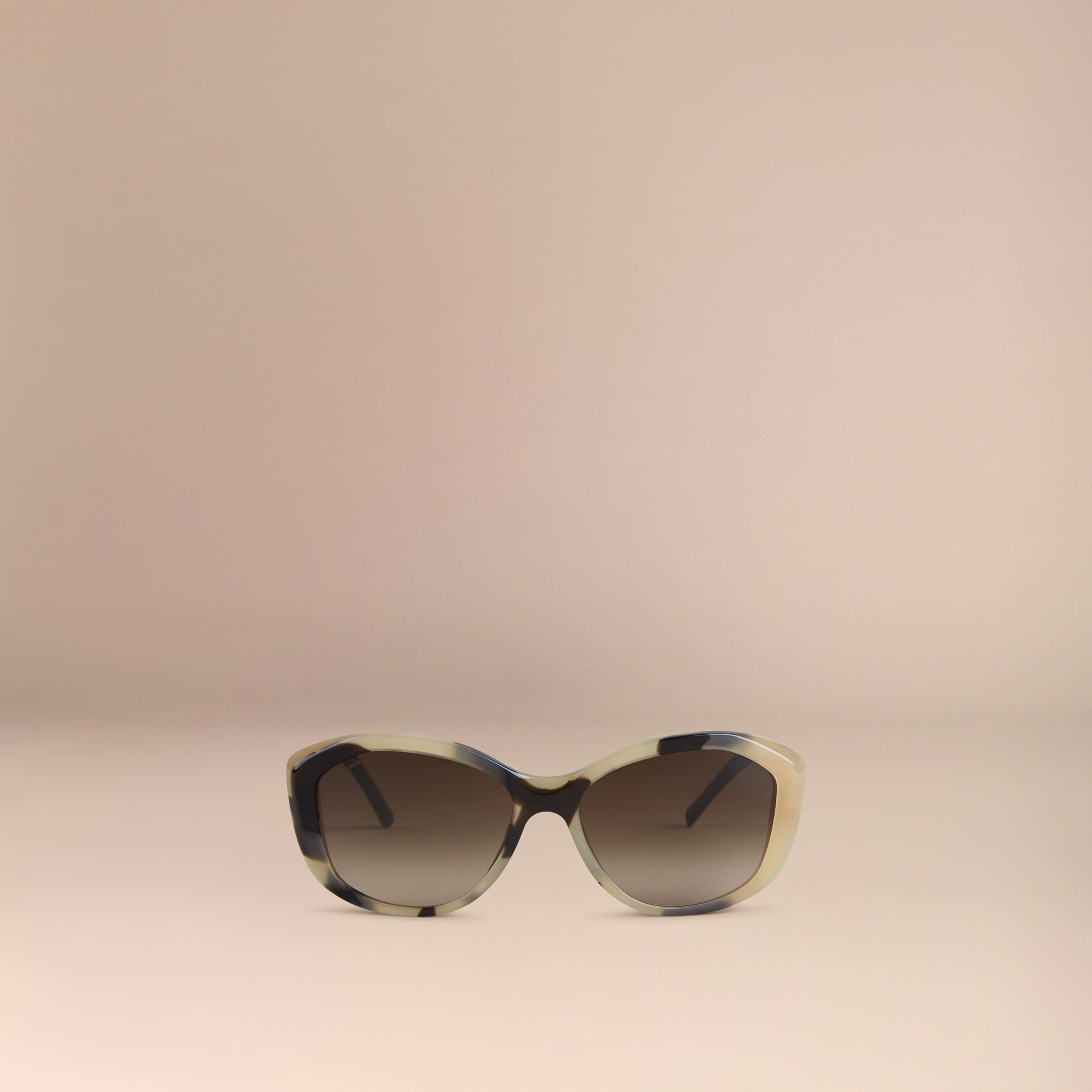 Gabardine Lace Collection Square Frame Sunglasses in Mid Tone Horn - gallery image 2