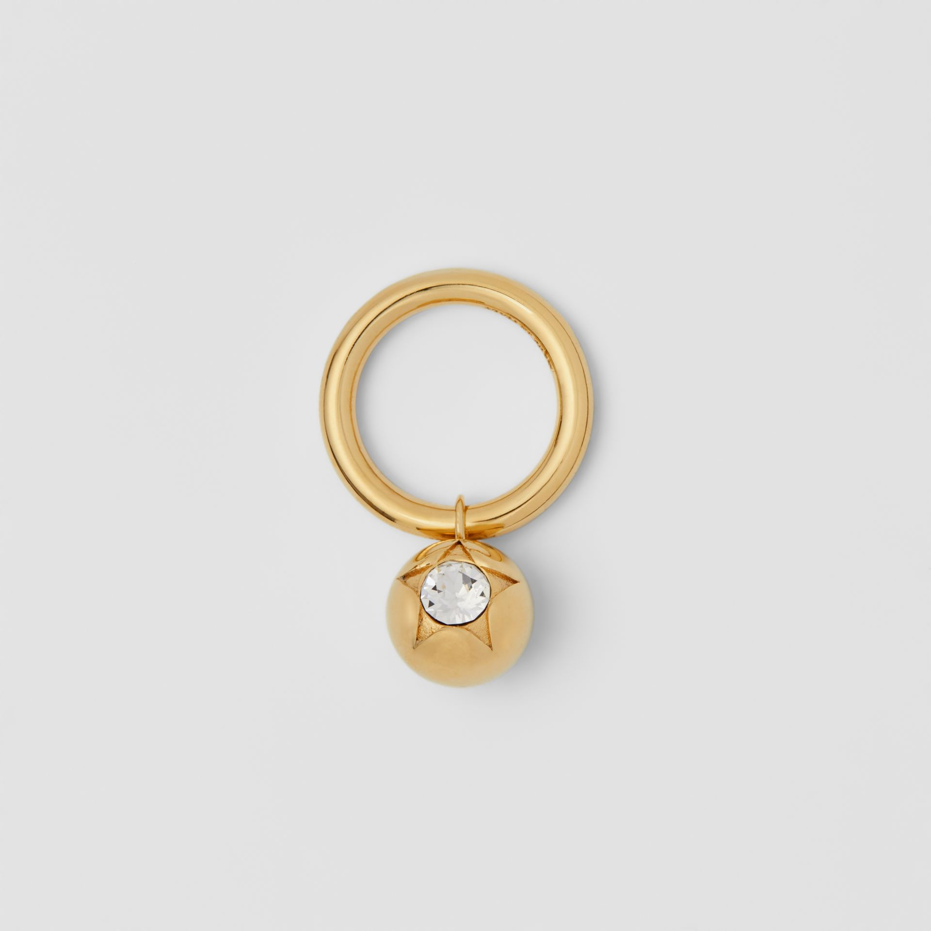 Crystal Charm Gold-plated Ring in Light Gold/crystal - Women | Burberry United Kingdom - gallery image 0