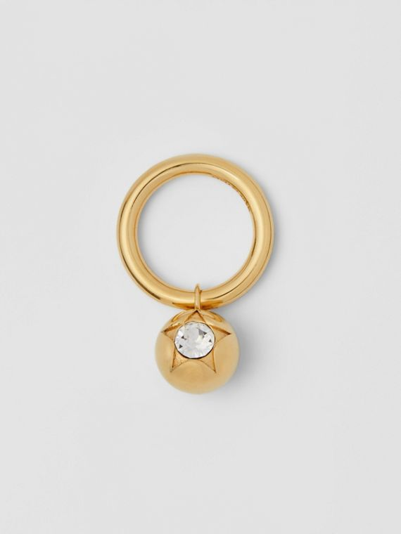 Crystal Charm Gold-plated Ring in Light Gold/crystal
