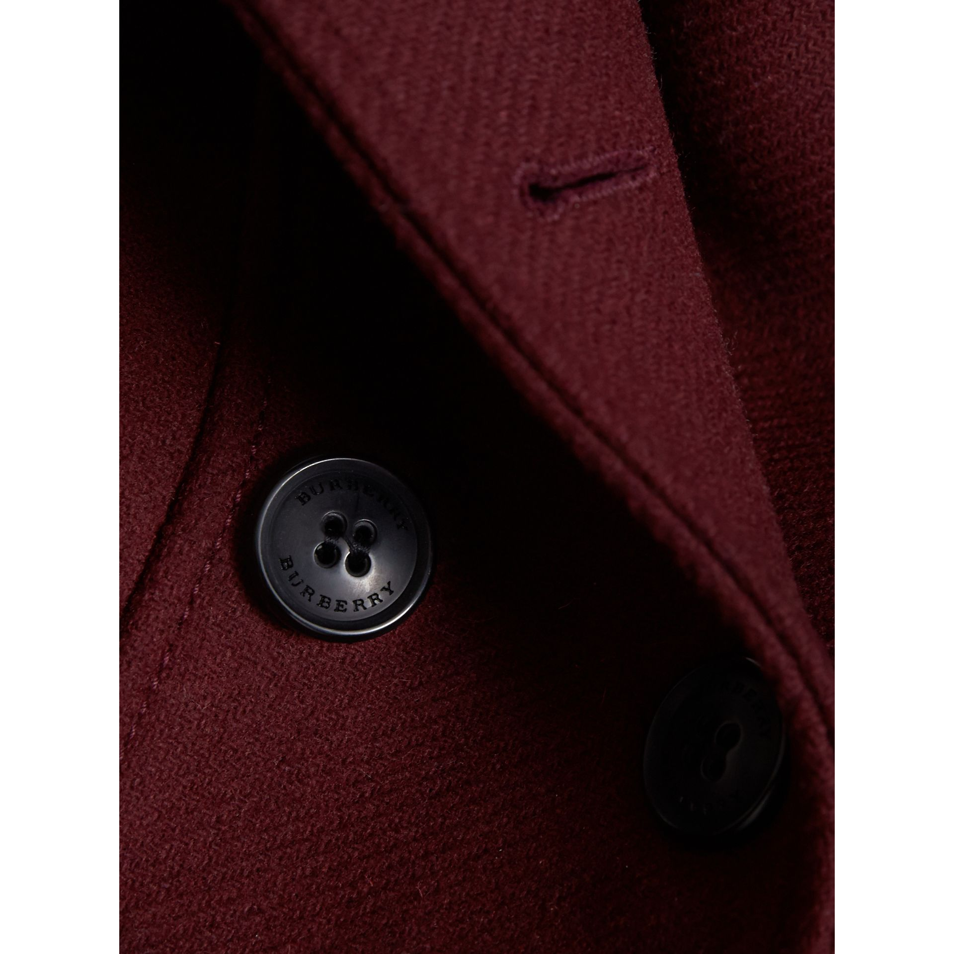 Technical Wool Cashmere Double-Breasted Coat in Garnet - Girl | Burberry Singapore - gallery image 1
