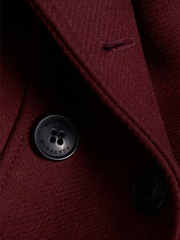 Technical Wool Cashmere Double-Breasted Coat in Garnet - Girl | Burberry - cell image 1