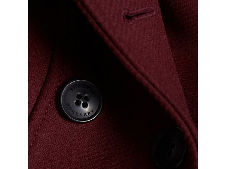Technical Wool Cashmere Double-Breasted Coat in Garnet - Girl | Burberry Canada - cell image 1