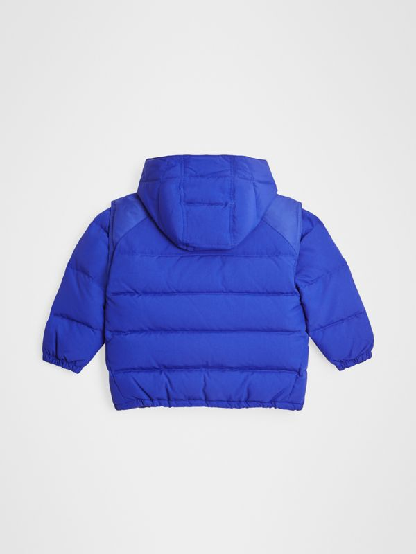 Detachable Hood Down-filled Puffer Jacket in Royal Blue | Burberry - cell image 3