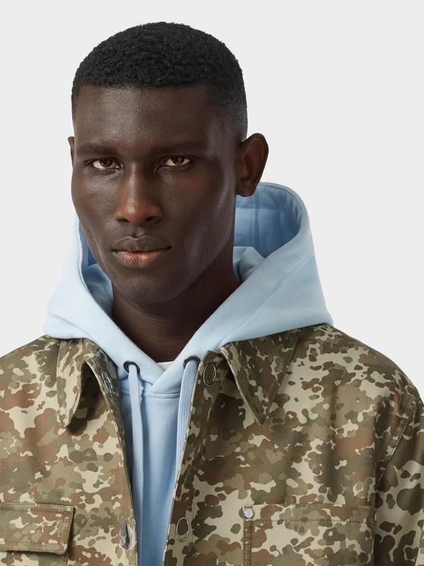 Camouflage Print Cotton Gabardine Jacket in Khaki Green - Men | Burberry United Kingdom - cell image 2