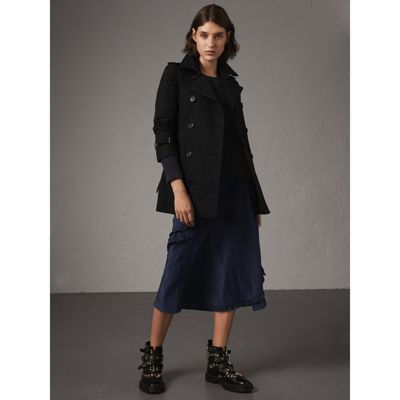 The Kensington – Short Trench Coat in Black Women   Burberry