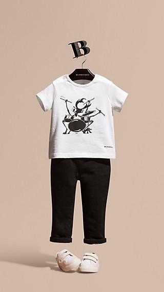 Beetle Motif Cotton T-shirt