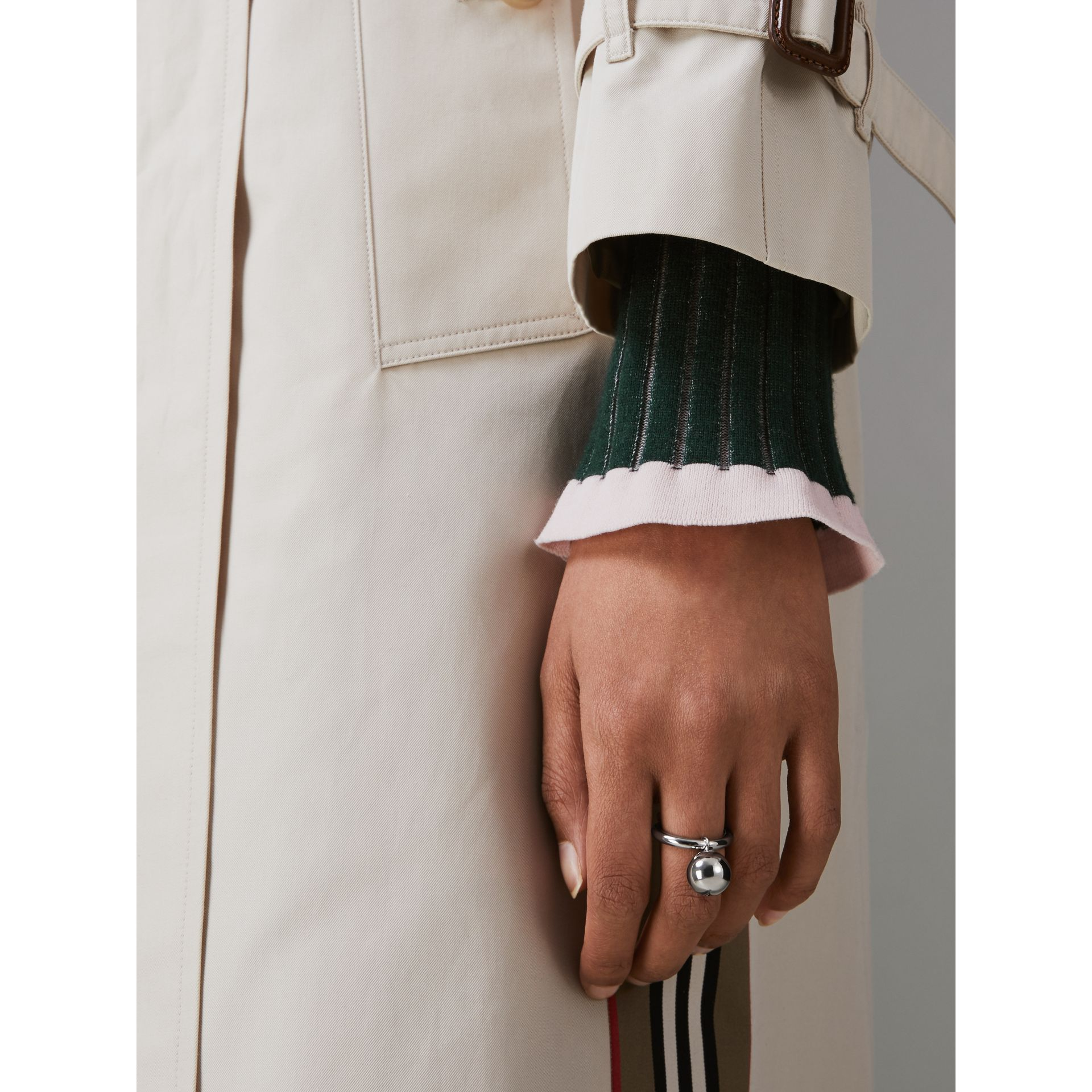 Charm Palladium-plated Ring in Palladio - Women | Burberry Singapore - gallery image 2