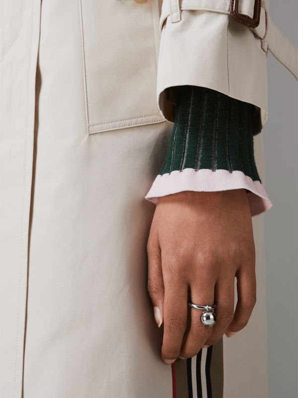 Charm Palladium-plated Ring in Palladio - Women | Burberry - cell image 2