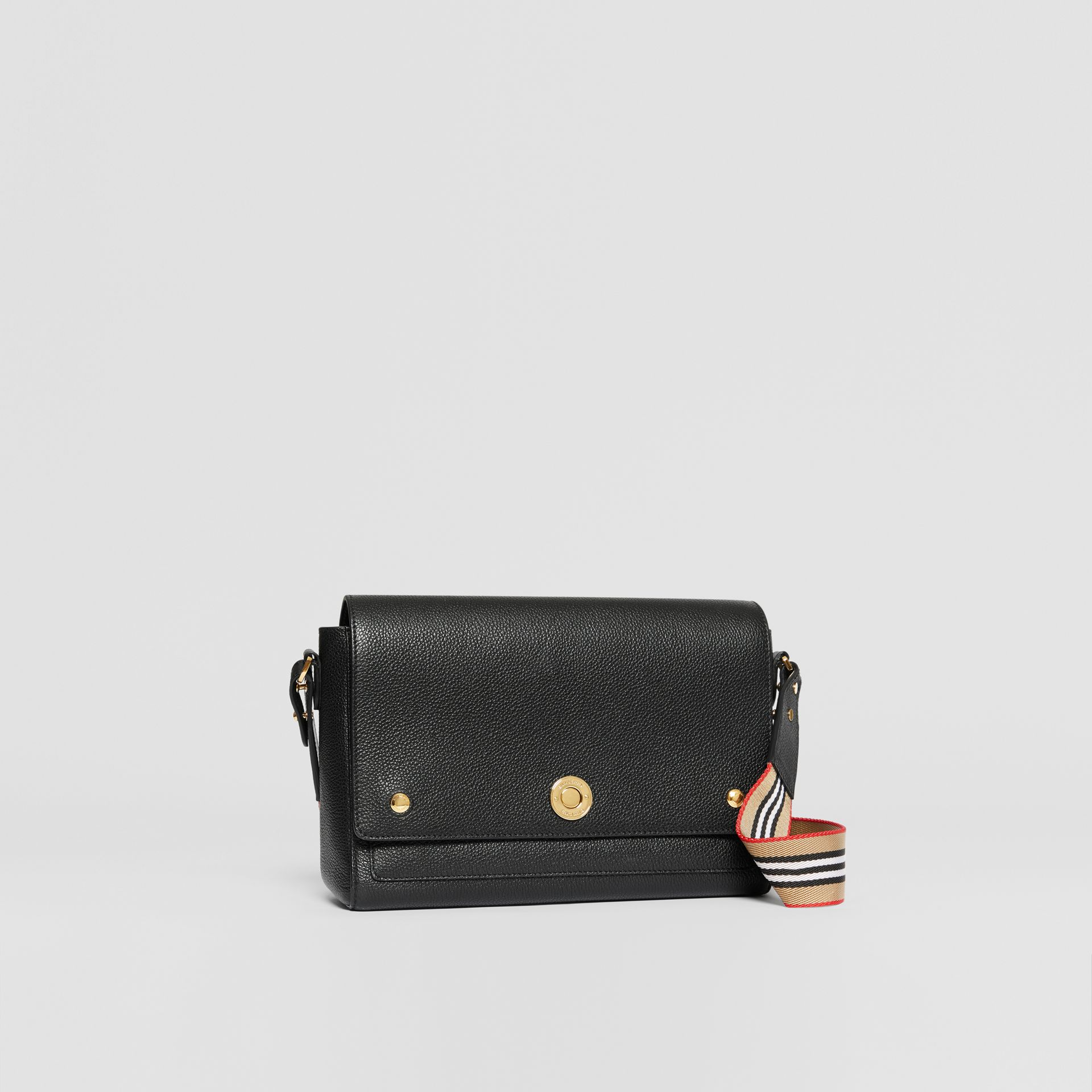 Grainy Leather Note Crossbody Bag in Black - Women | Burberry - gallery image 6