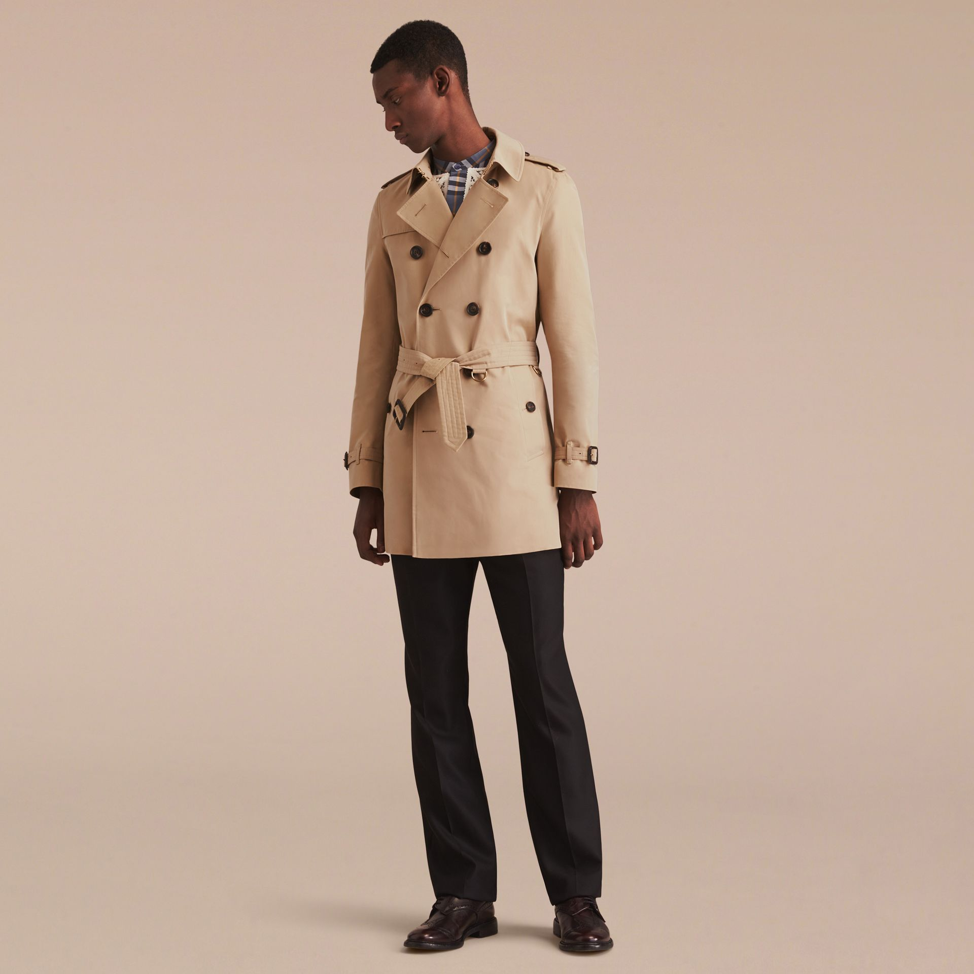 Miel Trench-coat Heritage mi-long The Chelsea Miel - photo de la galerie 9