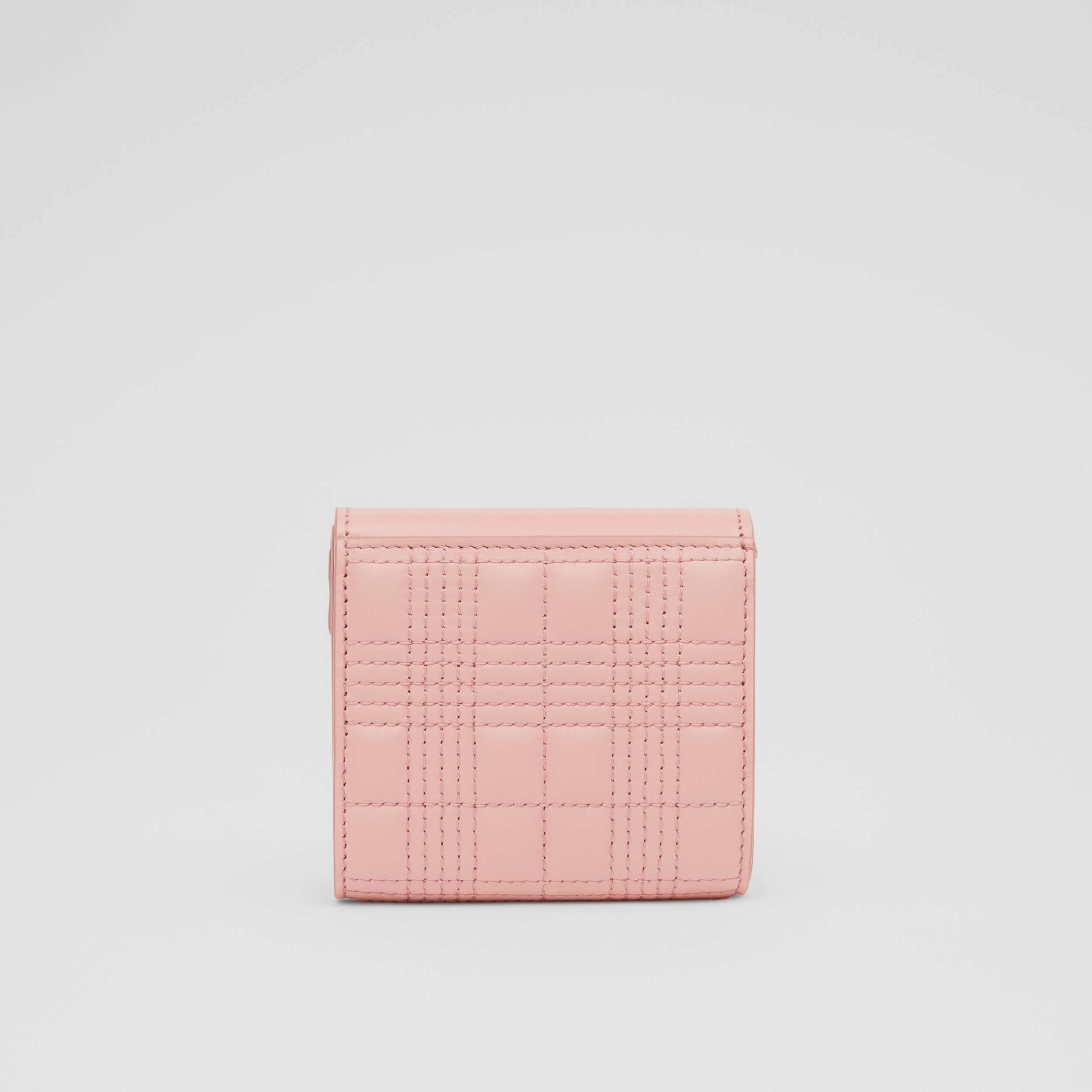 Quilted Lambskin Folding Wallet in Blush Pink - Women | Burberry Canada - 4
