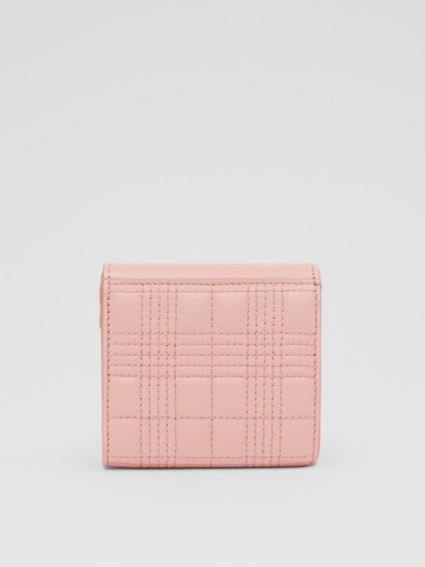 Quilted Lambskin Folding Wallet in Blush Pink - Women   Burberry - cell image 3