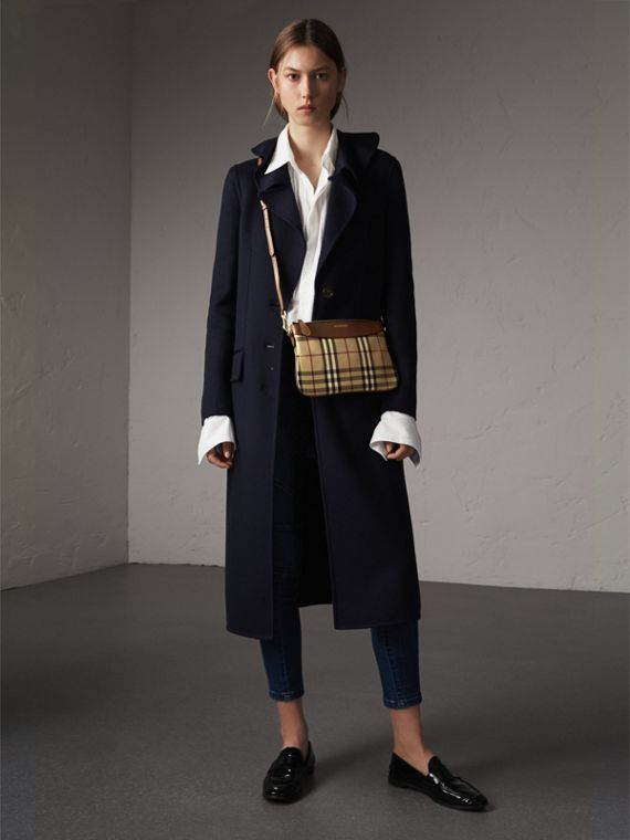 Horseferry Check and Leather Clutch Bag in Tan - Women | Burberry Singapore - cell image 2