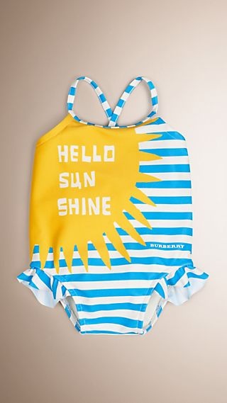 Hello Sunshine Graphic One-piece Swimsuit