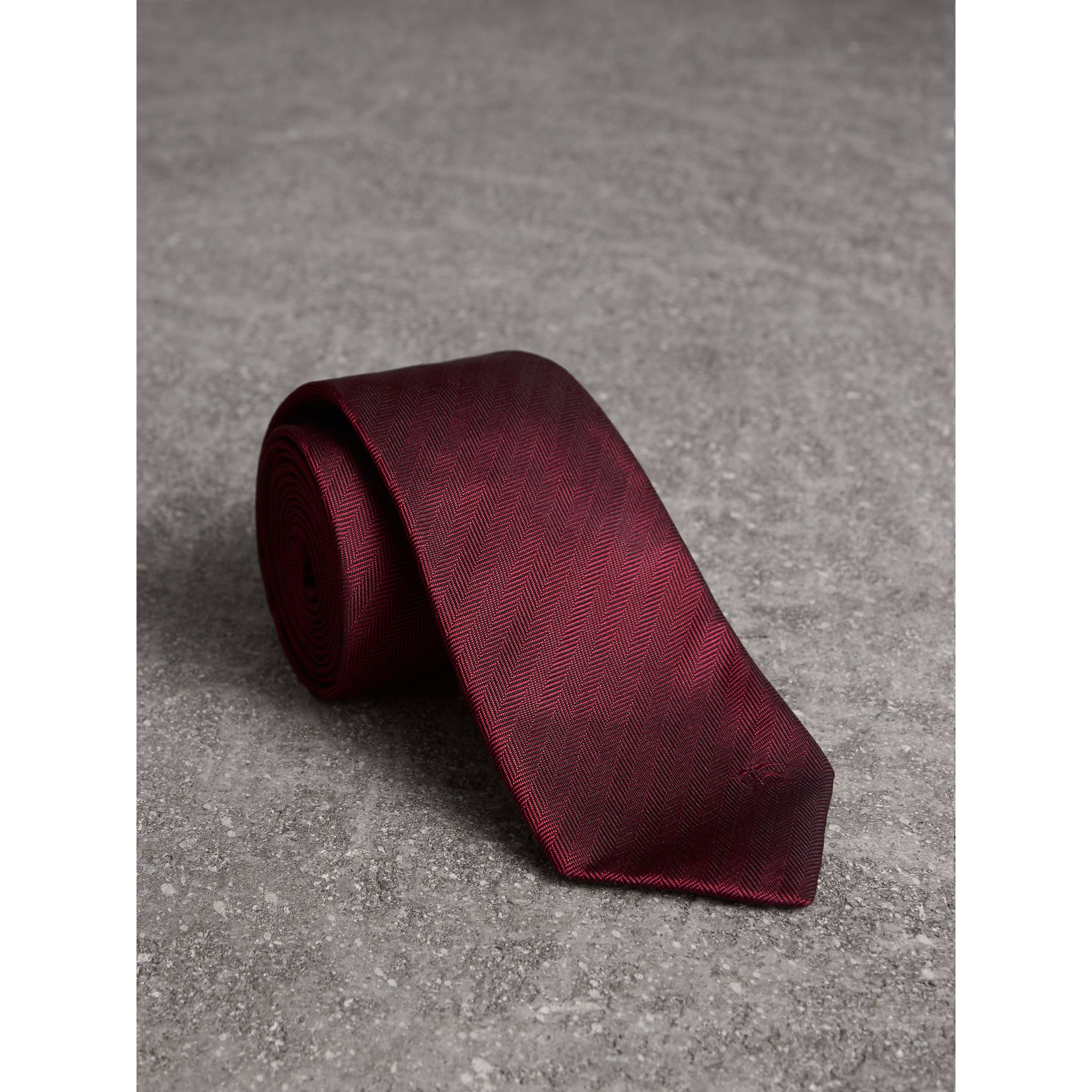 Modern Cut Silk Tie in Parade Red - Men | Burberry - gallery image 1