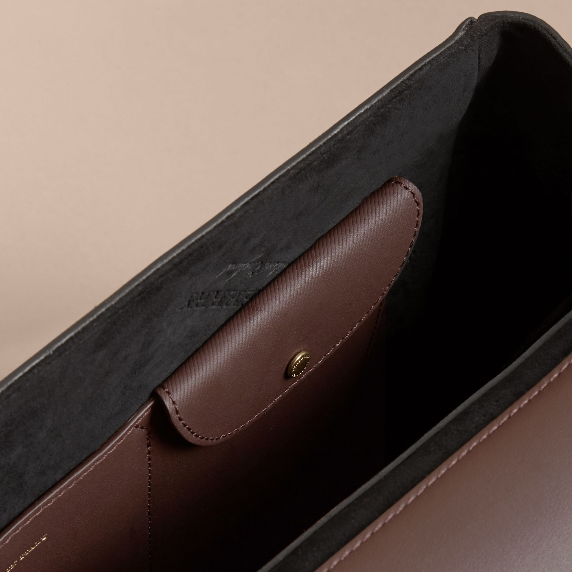 The Medium DK88 Top Handle Bag in Dark Chocolate - gallery image 7