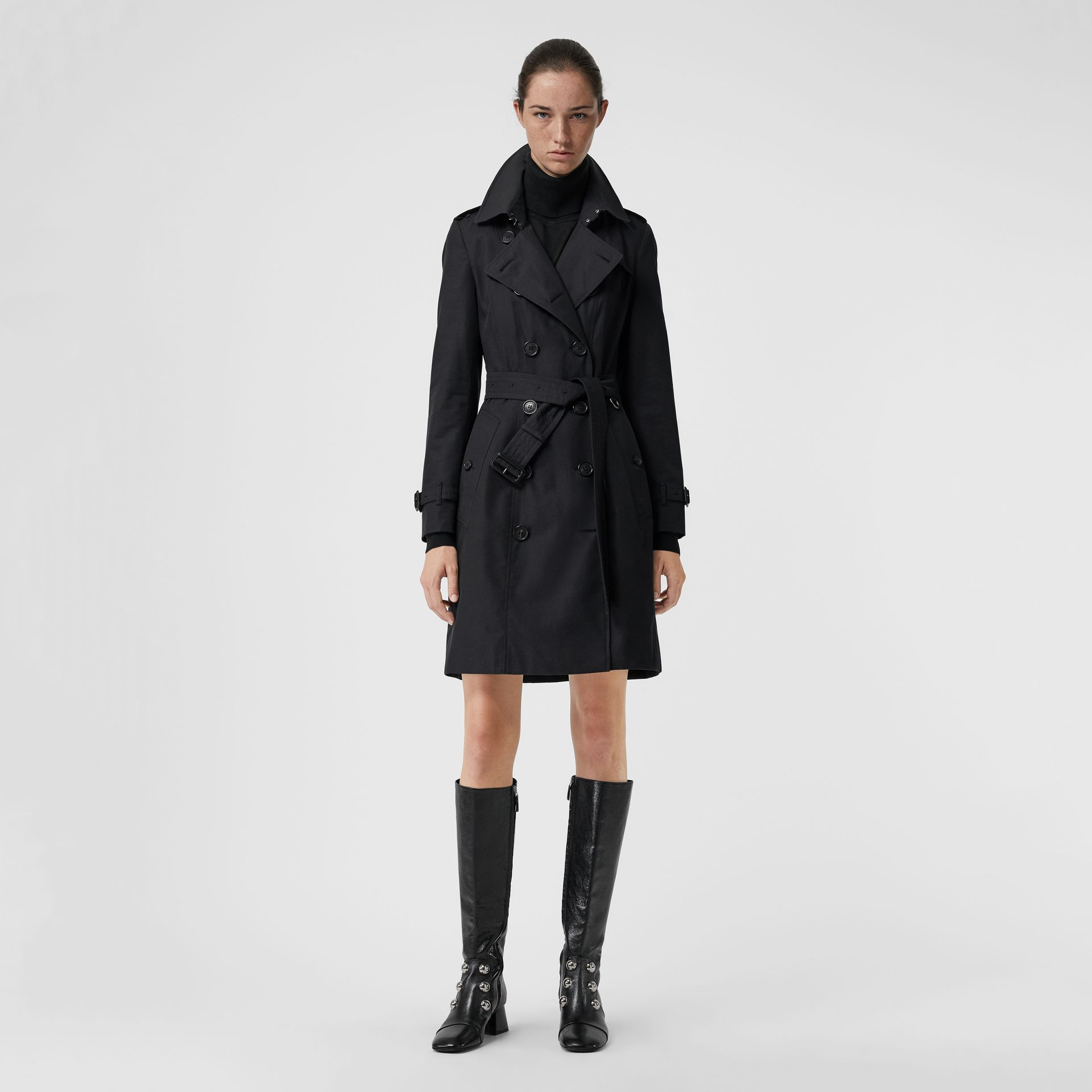 Trench Heritage The Chelsea (Minuit) - Femme | Burberry Canada - photo de la galerie 0