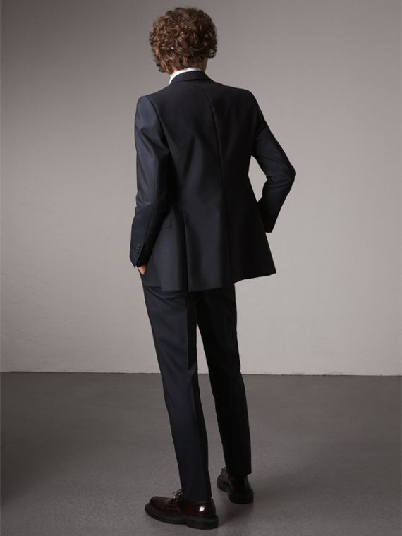 Slim Fit Mohair Suit in Navy - Men | Burberry - cell image 2