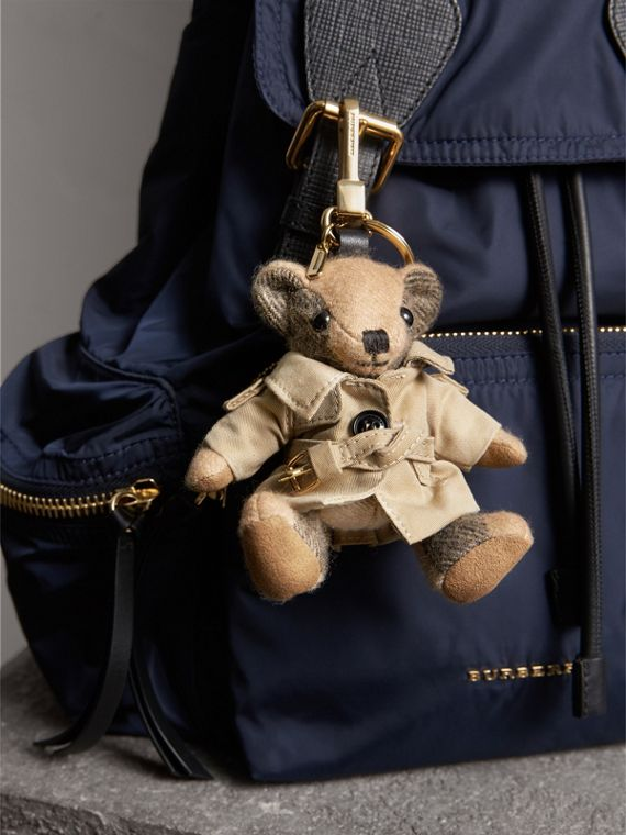 Thomas Bear Charm in Trench Coat in Camel | Burberry - cell image 2