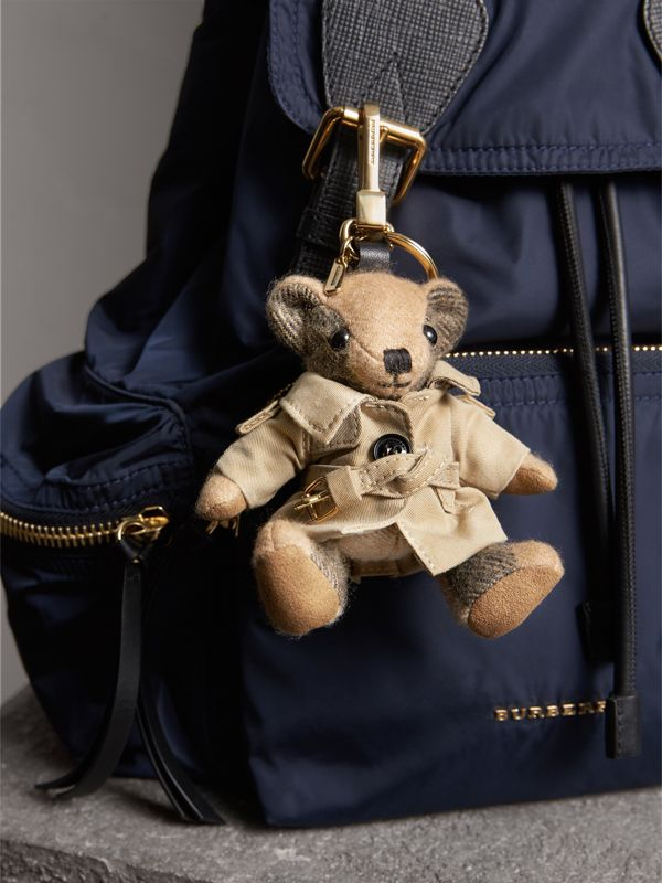 Thomas Bear Charm in Trench Coat in Camel | Burberry Australia - cell image 2