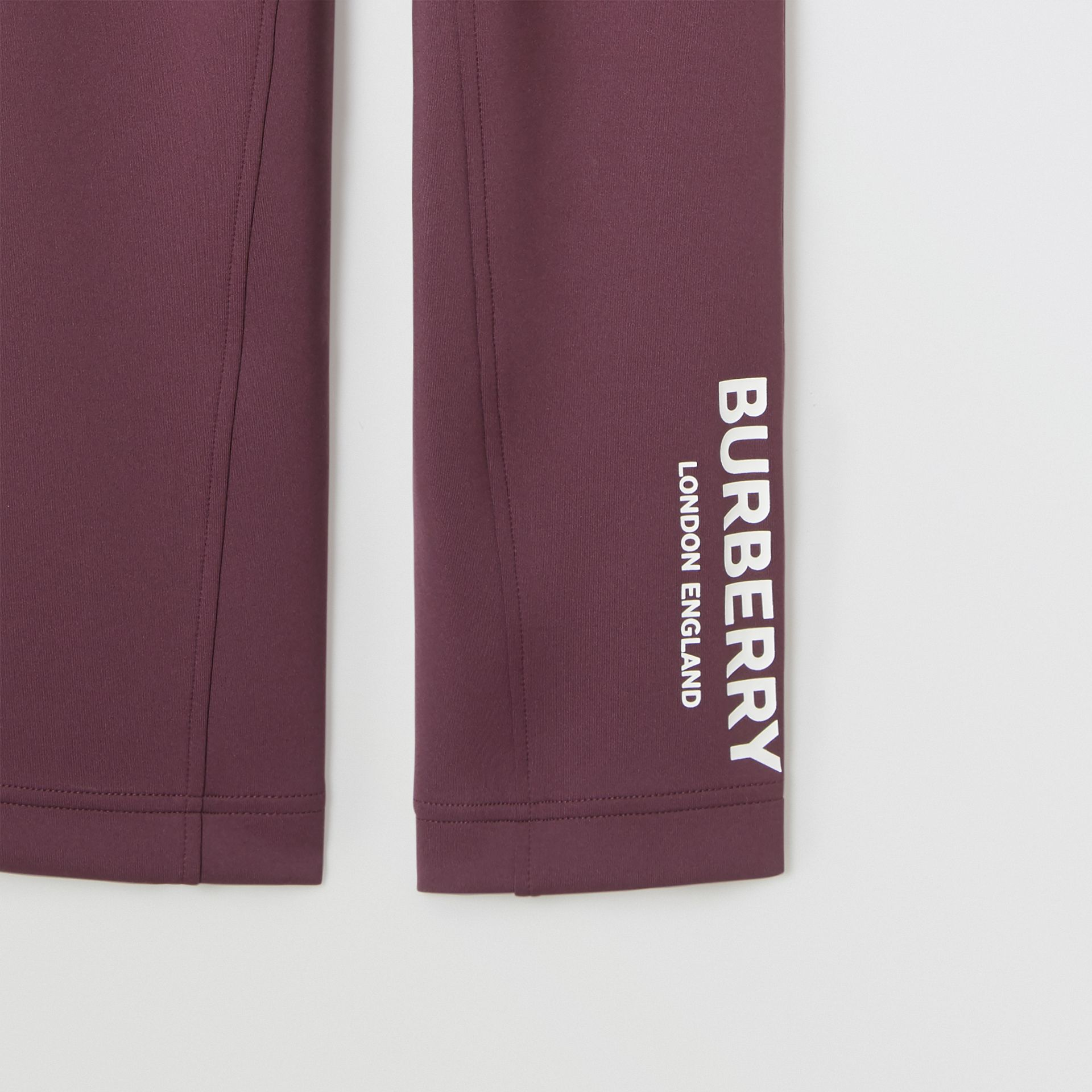 Logo Print Lightweight Trackpants in Claret | Burberry United Kingdom - gallery image 5