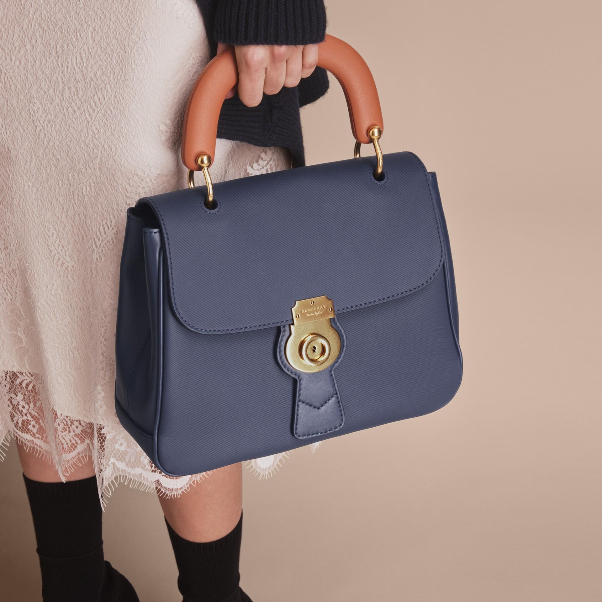 The Medium DK88 Top Handle Bag Ink Blue - gallery image 3