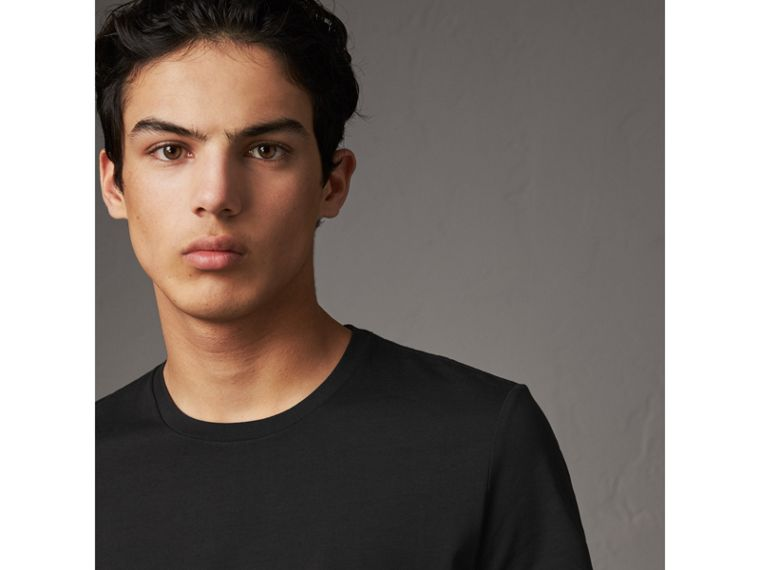 Cotton Jersey T-shirt in Black - Men | Burberry - cell image 1