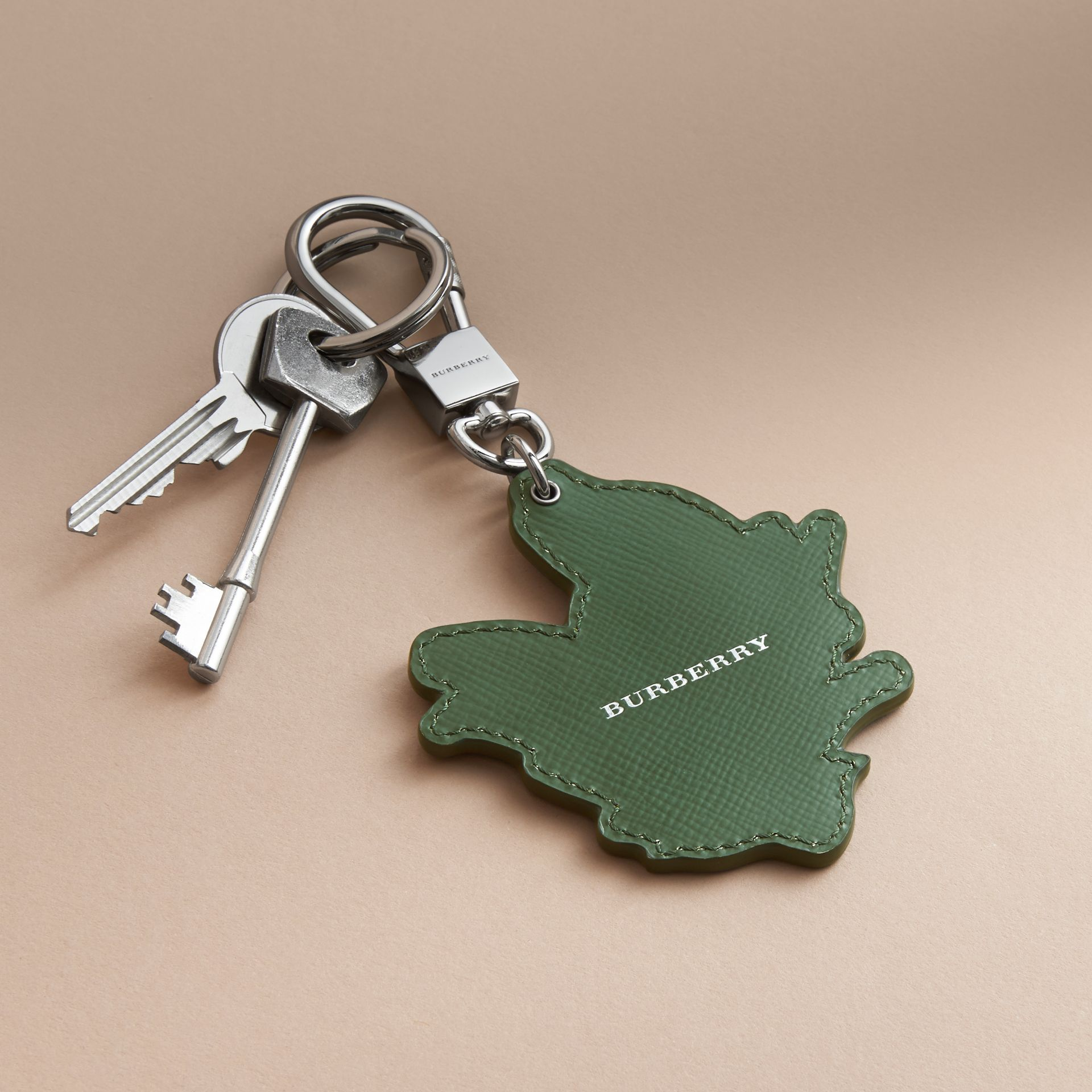Beasts Leather Key Ring in Honey - gallery image 4