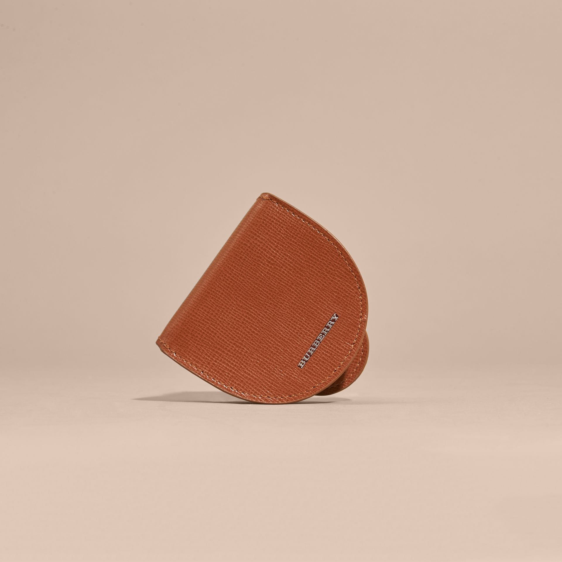 London Leather Coin Case in Burnt Sienna - gallery image 6
