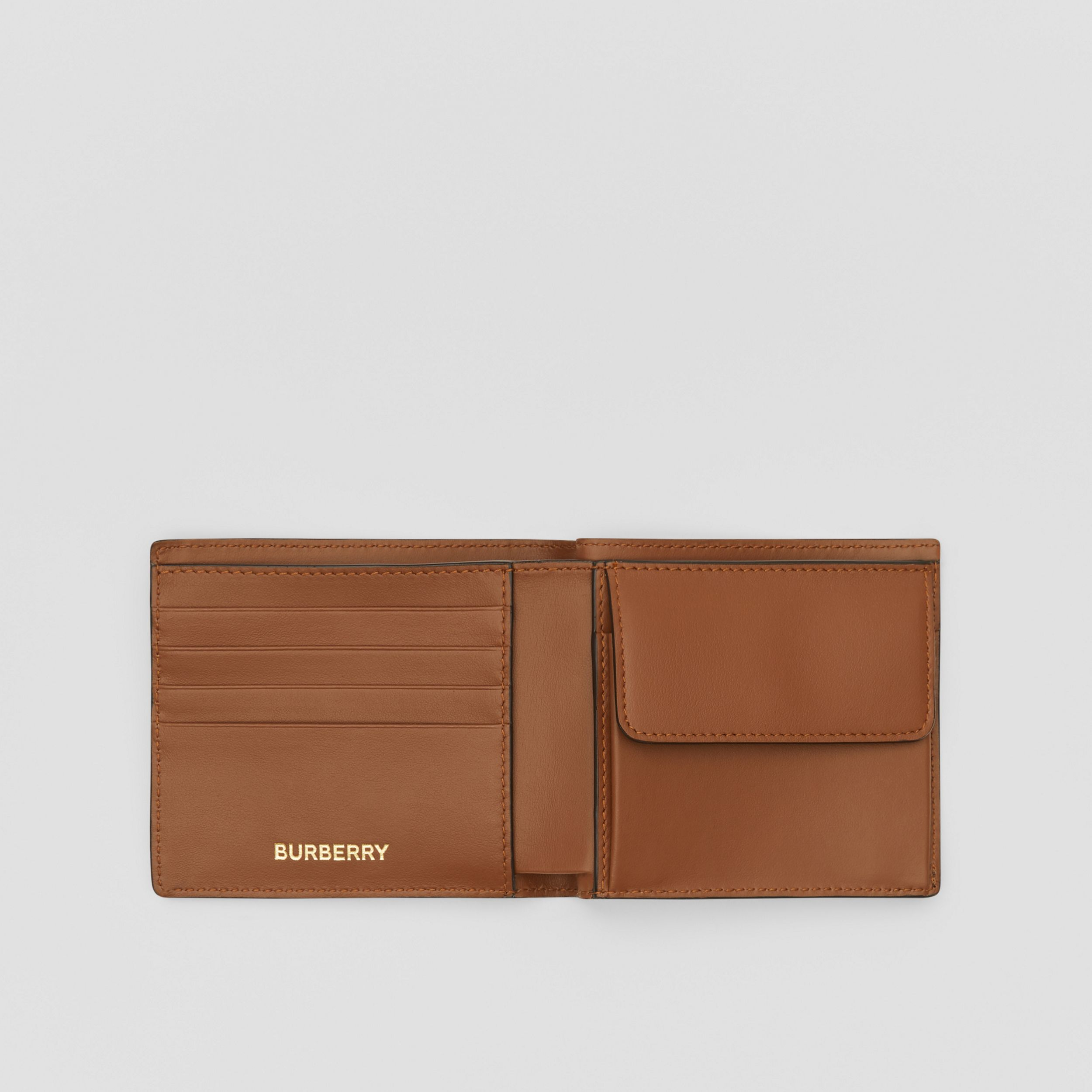 Monogram E-canvas International Bifold Coin Wallet in Bridle Brown - Men | Burberry - 3