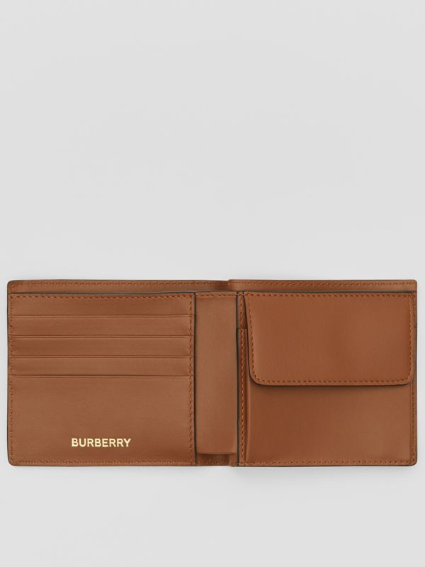 Monogram E-canvas International Bifold Coin Wallet in Bridle Brown - Men | Burberry Australia - cell image 2
