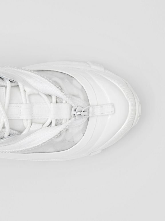 Nylon and Suede Arthur Sneakers in White - Women | Burberry Canada - cell image 1