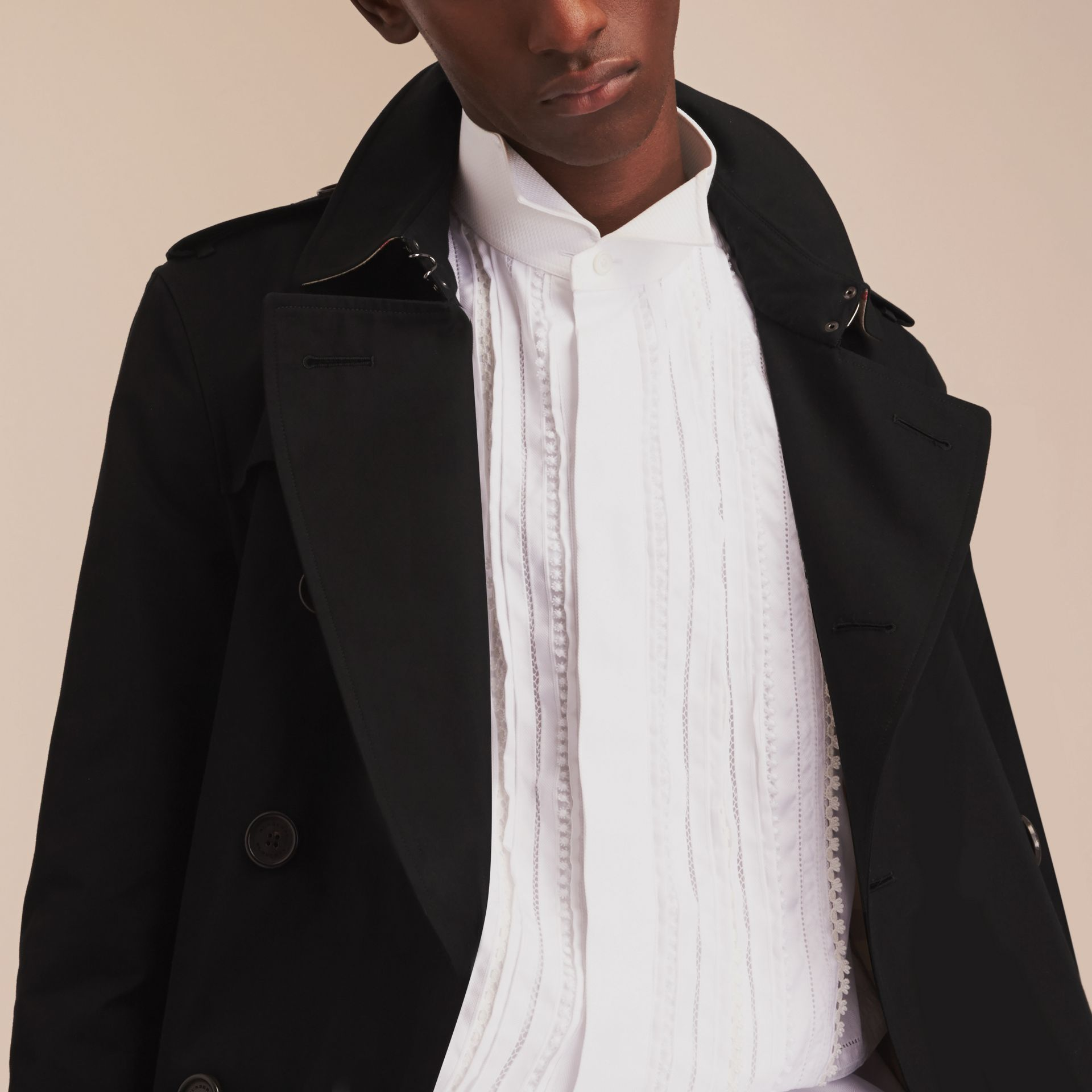 Black The Chelsea – Long Heritage Trench Coat Black - gallery image 10
