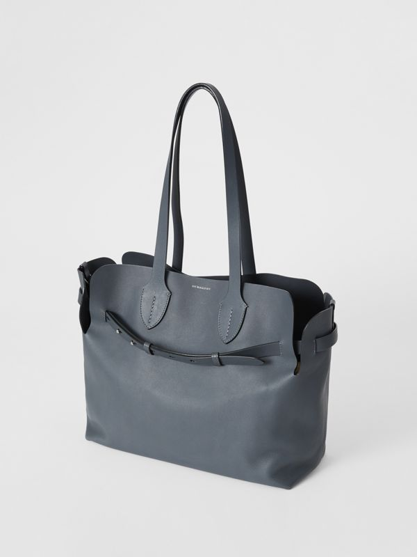 The Medium Soft Leather Belt Bag in Dark Pewter Grey - Women | Burberry - cell image 3