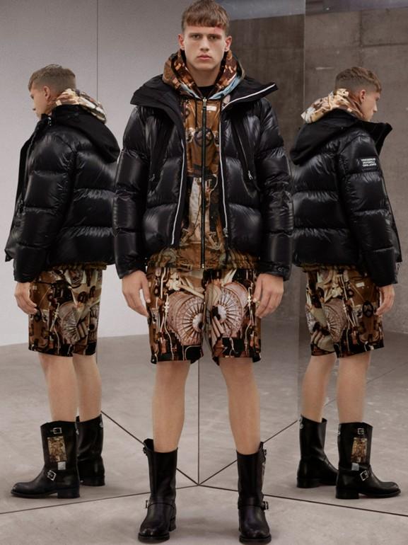 Packaway Hood Puffer Jacket in Black - Men | Burberry - cell image 1