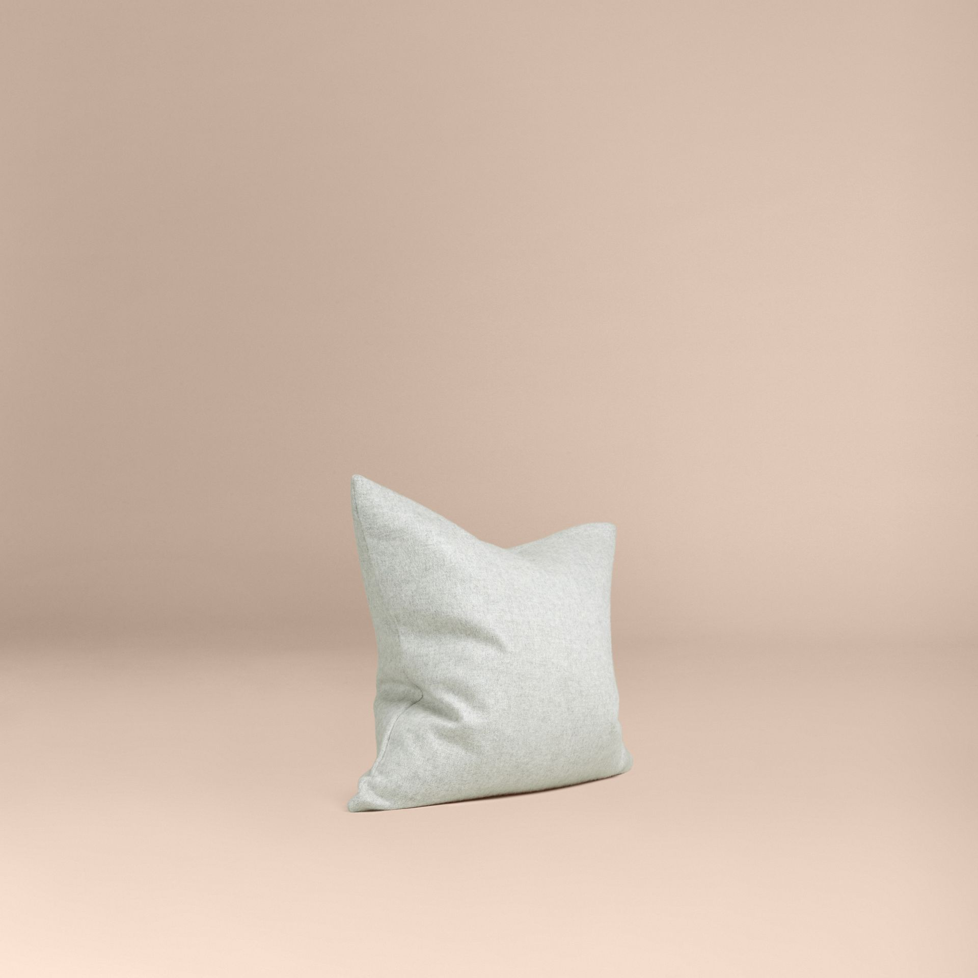 Pale grey Cashmere Cushion Cover - gallery image 1