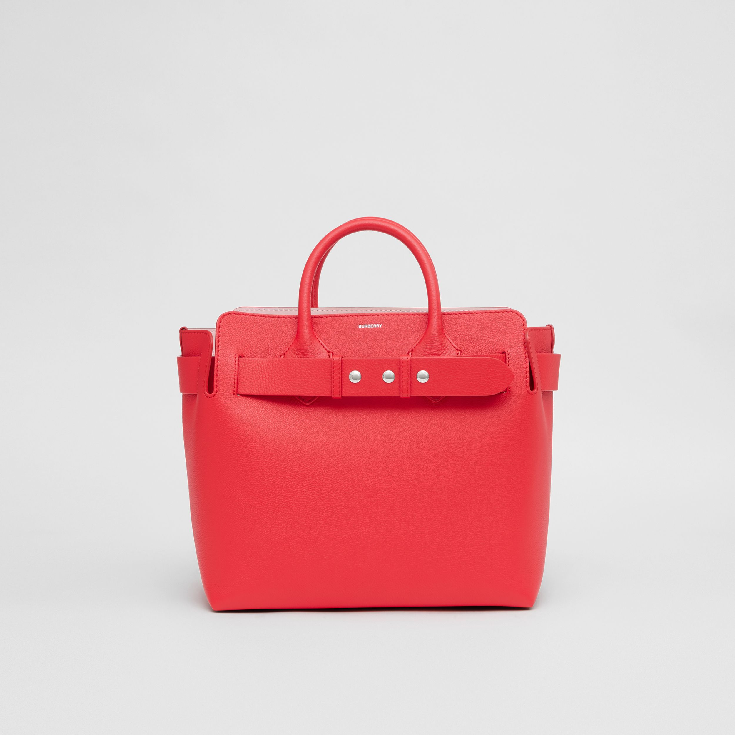 Borsa The Belt media in pelle con tre borchie (Rosso Intenso/rosa Alabastro) - Donna | Burberry - 1