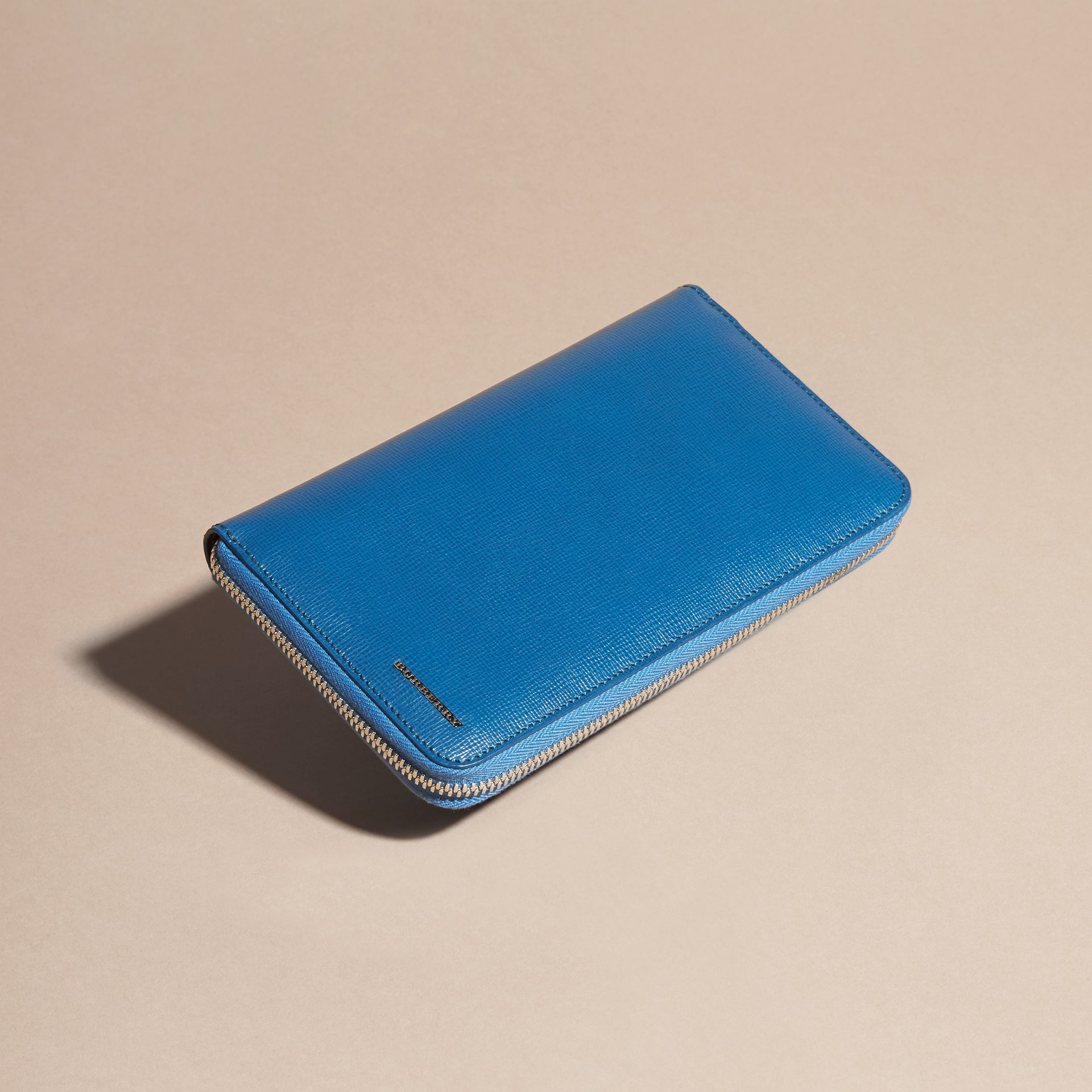 Mineral blue London Leather Ziparound Wallet Mineral Blue - gallery image 8