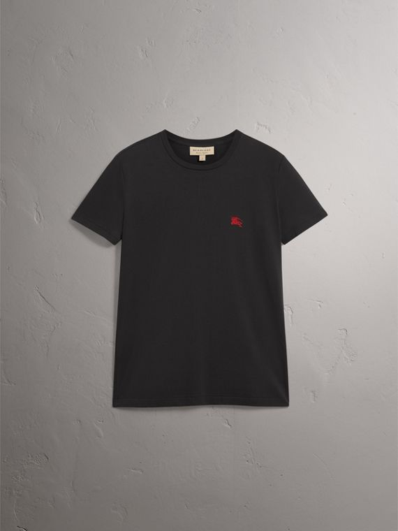 Cotton Jersey T-shirt in Black - Men | Burberry United Kingdom - cell image 3