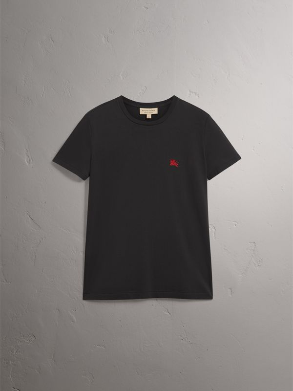 Cotton Jersey T-shirt in Black - Men | Burberry - cell image 3