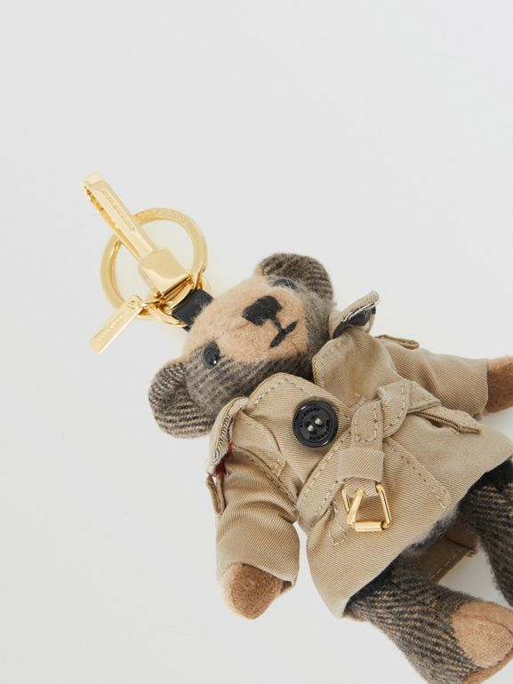 Thomas Bear Charm in Trench Coat in Camel | Burberry Singapore - cell image 1