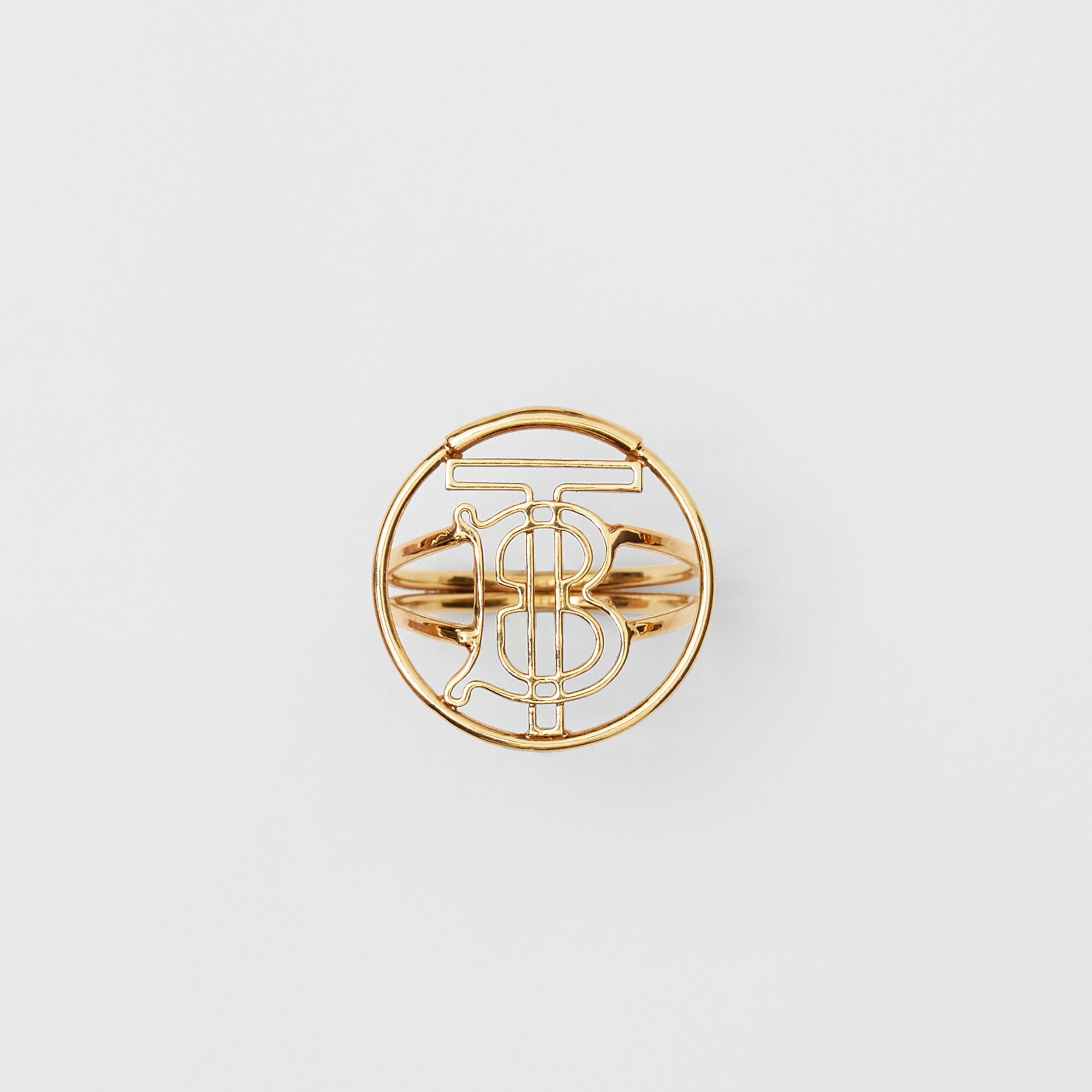 Gold-plated Monogram Motif Ring in Light - Women | Burberry - 2
