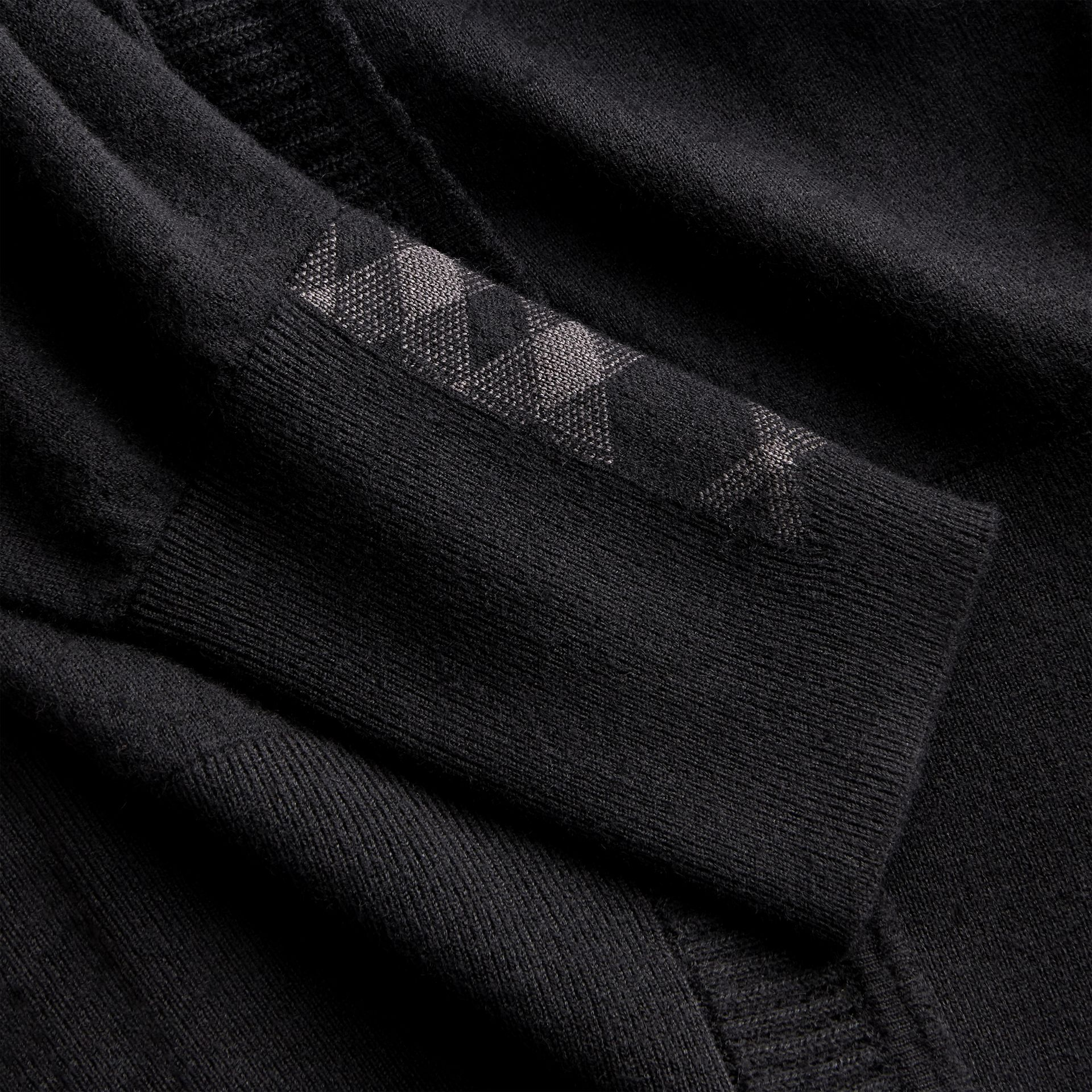 Open-knit Detail Cashmere Cardigan in Black - Women | Burberry Hong Kong - gallery image 2