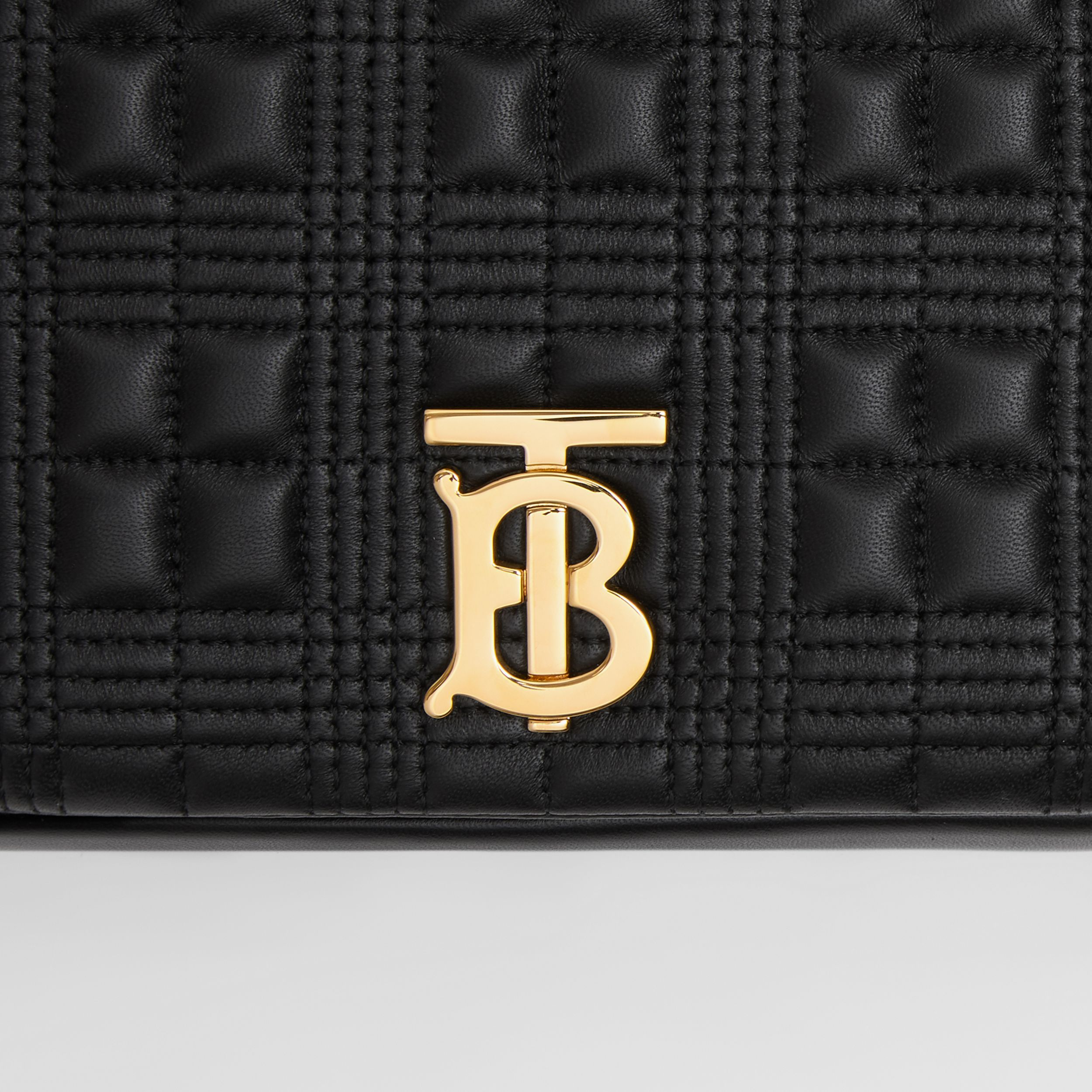 Medium Quilted Lambskin Lola Bag in Black/light Gold - Women | Burberry - 2