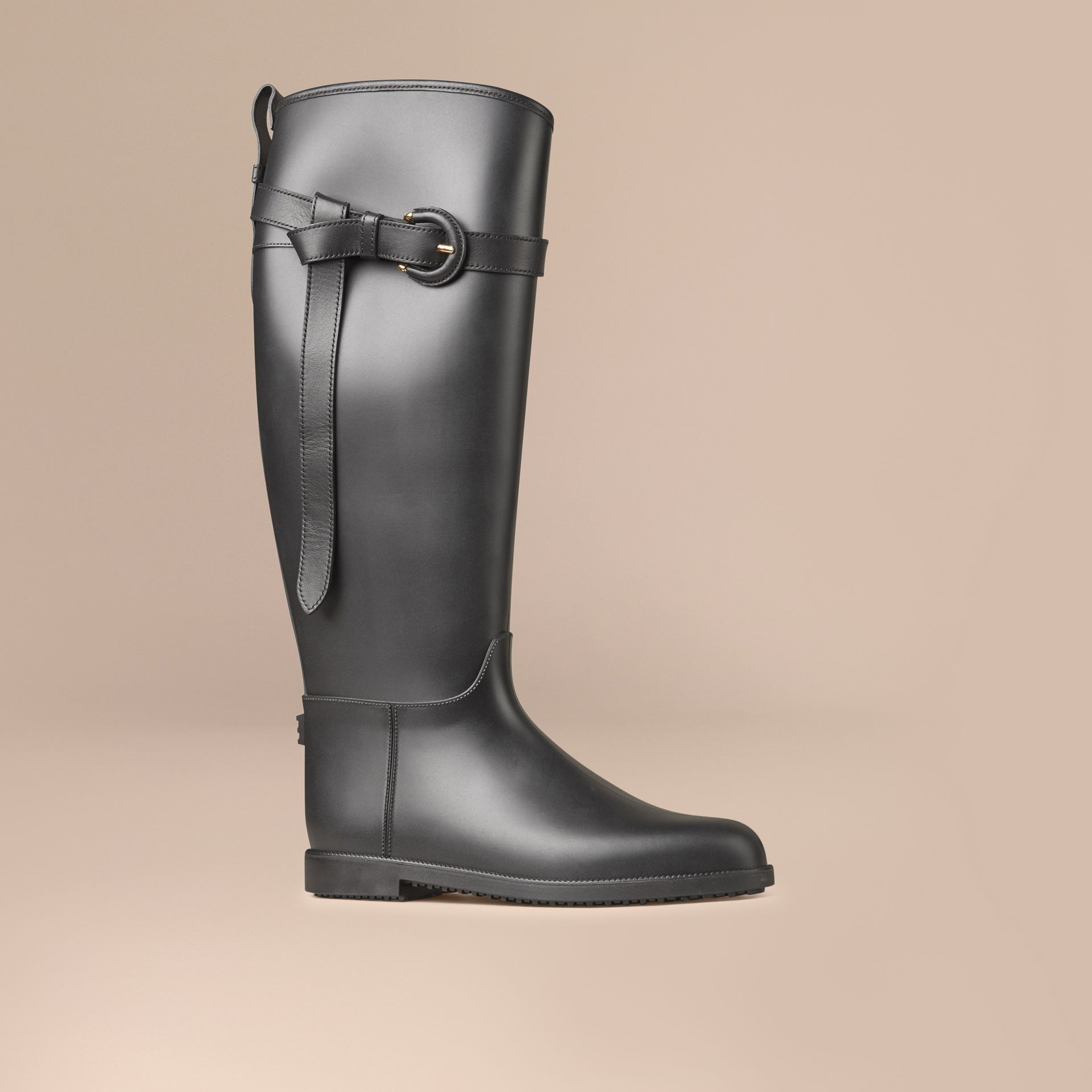 Belted Equestrian Rain Boots - gallery image 1