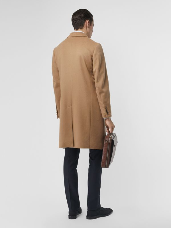 Wool Cashmere Tailored Coat in Camel - Men | Burberry United Kingdom - cell image 2
