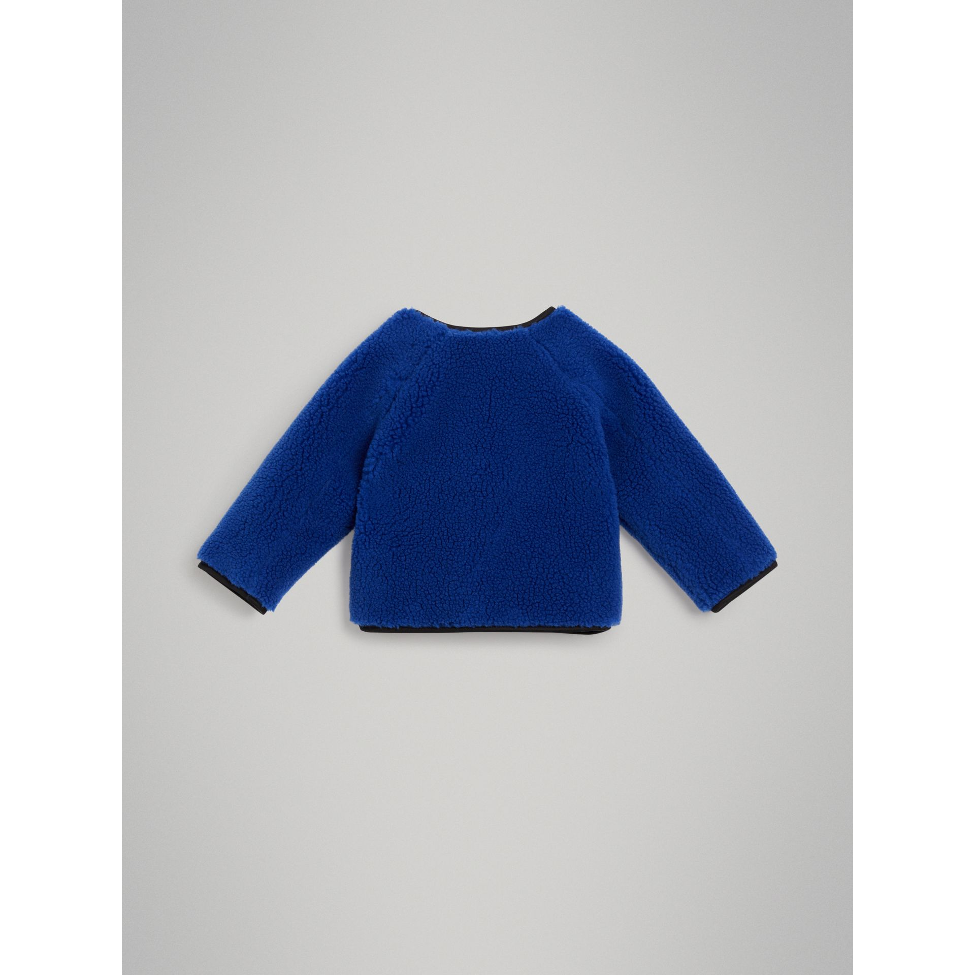 Faux Shearling Jacket in Cobalt Blue - Children | Burberry - gallery image 3